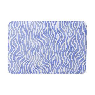 Denim-blauer Aquarellzebra-Druck Badematte
