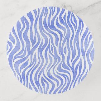 Denim-blauer Aquarellzebra-Druck Dekoschale