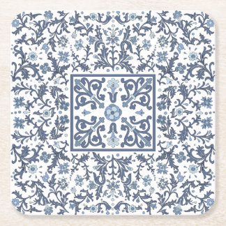 Denim-blauer verzierter Entwurf Rechteckiger Pappuntersetzer