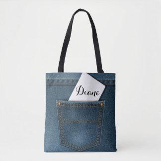 Denim-Blue Jeans-Tasche Tasche