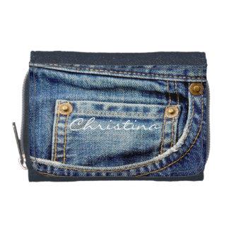 DENIM-Blue Jeans-Taschengeldbörse der