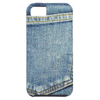 Denim-Jeans stecken blaue Gewebeart-Modereiche ein iPhone 5 Hülle