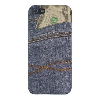 Denim-Jeans-Tasche und US-Geld Hülle Fürs iPhone 5
