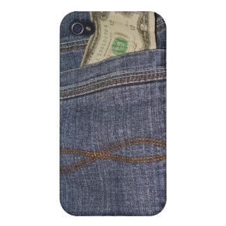 Denim-Jeans-Tasche und US-Geld iPhone 4 Schutzhülle