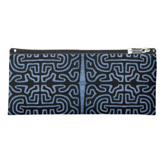 Denim Kuba Muster-Bleistift-Kasten Stiftetasche