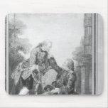 Denis Diderot und Melchior, Baron de Grimm Mauspads