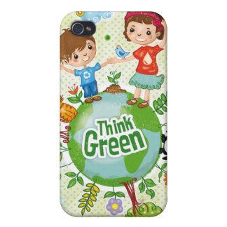 Denke ökologisch-Bewusstseins-glückliches Zitat iPhone 4 Case