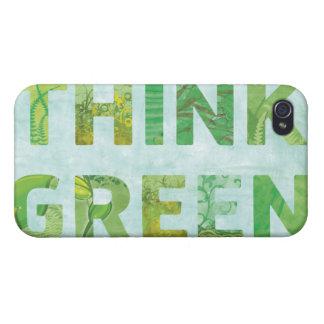 Denke ökologisch-Bewusstseins-glückliches Zitat iPhone 4 Hülle