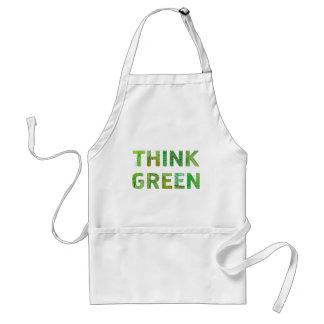 Denke ökologisch-Bewusstseins-glückliches Zitat Schürze
