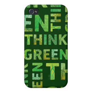 Denke ökologisch-Bewusstseins-glückliches Zitat Schutzhülle Fürs iPhone 4