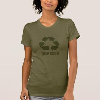 Denke ökologisch recyceln T - Shirt