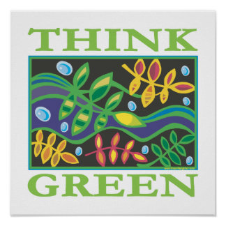 Denke ökologisch umweltsmäßig poster