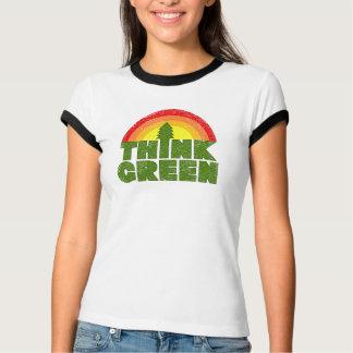 Denke ökologisch-Vintager Art-T - Shirt