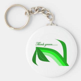 Denke ökologisch - Zen recyceln Produkte Schlüsselanhänger