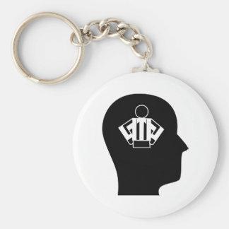 Denken an das Als Schiedsrichter fungieren Schlüsselanhänger