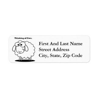 Denken an Mutterschaf-Lamm-Schaf-niedlichen