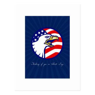 Denken an Sie auf Patriot-Tageskarte Postkarten