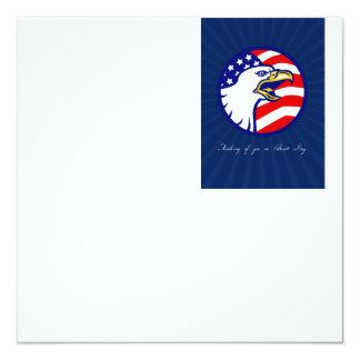 Denken an Sie auf Patriot-Tageskarte Quadratische 13,3 Cm Einladungskarte