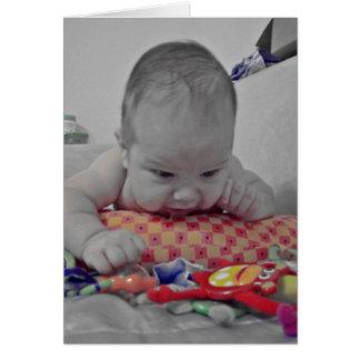 Denken an Sie Baby! Grußkarte