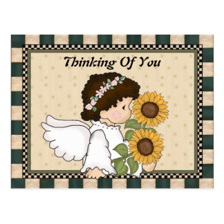 Denken an Sie Engels-Postkarte Postkarte