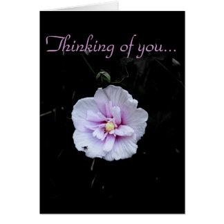 Denken an Sie…/freier Raum Grußkarte
