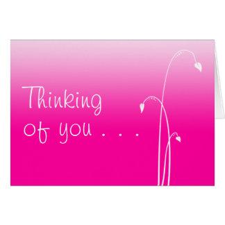 Denken an Sie (freier Raum nach innen) Grußkarte