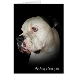 Denken an Sie-geifernde Bulldogge Karte