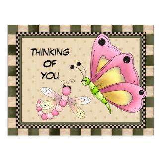 Denken an Sie Grußpostkarte Postkarte
