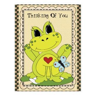 Denken an Sie Landfrosch Postkarte