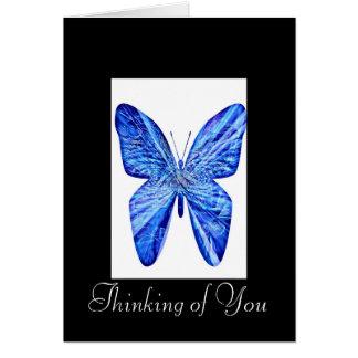 Denken an Sie Schmetterling Grußkarte