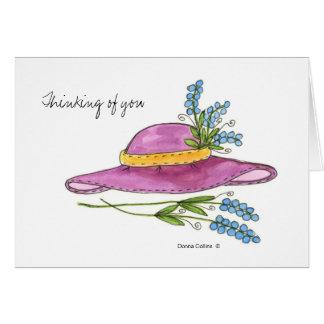 Denken an You*Pink Hut-Raumanmerkungskarte Karte