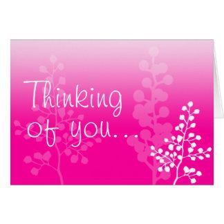 Denken Sie an Sie (freier Raum nach innen) Grußkarte