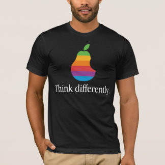 Denken Sie anders als - Retro Apple parodieren T-Shirt