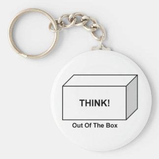 Denken Sie aus dem Kasten heraus Schlüsselanhänger
