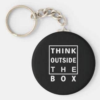 denken Sie außerhalb der des intelligenten klugen Schlüsselanhänger