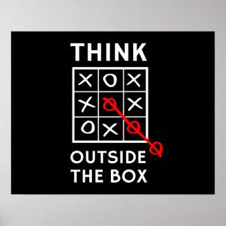 Denken Sie außerhalb des Kastens Plakate
