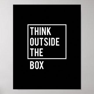 Denken Sie außerhalb des Kastens Poster