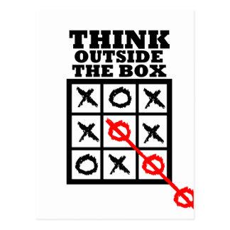 Denken Sie außerhalb des Kastens Postkarte