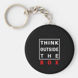 denken Sie außerhalb des roten intelligenten Schlüsselanhänger