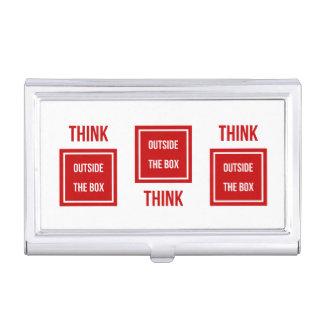 Denken Sie außerhalb des roten Kastens Visitenkarten Etui