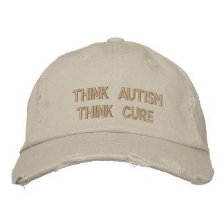 Denken Sie Autismus, denken Sie Heilung Bestickte Kappe