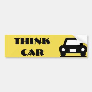 Denken Sie Auto-flippigen Aufkleber Autoaufkleber