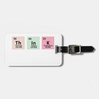 Denken Sie - Chemie Gepäckanhänger