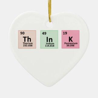 Denken Sie - Chemie Keramik Herz-Ornament