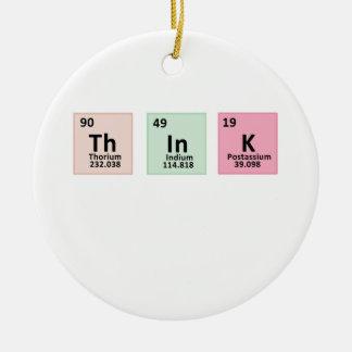 Denken Sie - Chemie Rundes Keramik Ornament