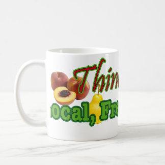Denken Sie, das Kauf-Einheimische, frisch, Bio Kaffeetasse