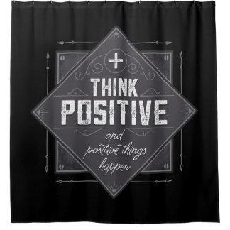 Denken Sie, dass die positiven und positiven Duschvorhang