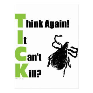 Denken Sie, dass es nicht töten kann? Denken Sie Postkarte
