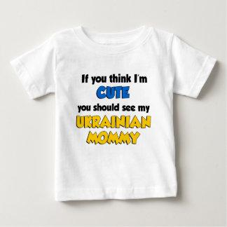 Denken Sie, dass ich niedliche ukrainische Mama Baby T-shirt
