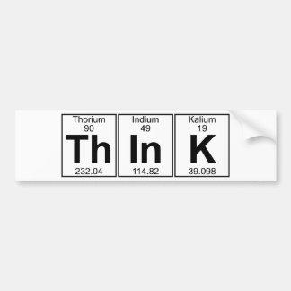 Denken Sie (denken Sie) - voll Autoaufkleber